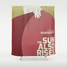 The sun also rises, Fiesta, Ernest Hemingway, classic book cover Shower Curtain