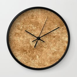 Desert Mist Oil Painting Color Accent Wall Clock