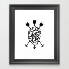 DEAD HEART Framed Art Print