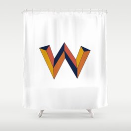 The W Letter Shower Curtain