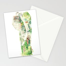 Literary Garden for Rabbits Stationery Cards