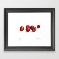 Red Plums Framed Art Print
