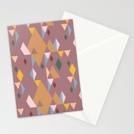 Rhombuses on cocoa background, abstract seamless pattern Stationery Cards