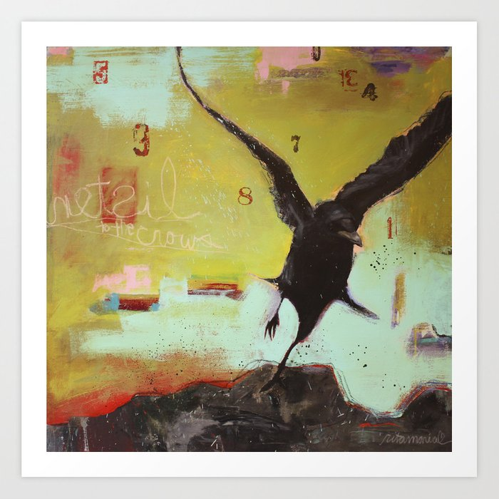 Listen to the Crows 3 Art Print
