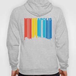 Retro 1970's Style Minneapolis Minnesota Skyline Hoody