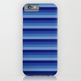 blue sea colorful pattern horizontal stripes iPhone Case