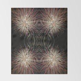 Neon Lights | Firework Frame Throw Blanket