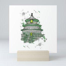 Temple Mini Art Print