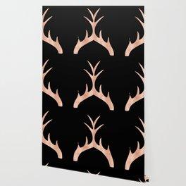Antlers Rose Gold Deer Antlers Wallpaper