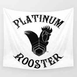 PLATINUM ROOSTER ~ Our Logo! Put it on your wall!  Wall Tapestry