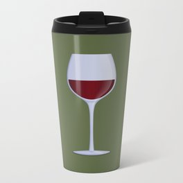 Red Wine Metal Travel Mug