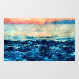 Sea And Sunset Rug