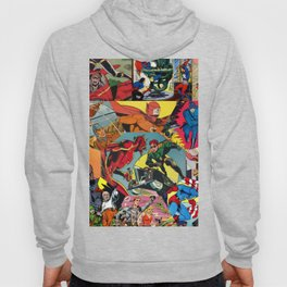Comic Book Collage Hoody