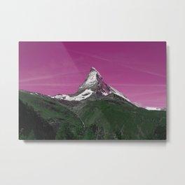 Matterhorn pink Metal Print