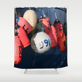 Fishing Buoy Photography Print Shower Curtain