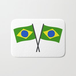 brazil flag Bath Mat