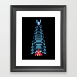 Galaga Captured Player 1 Framed Art Print