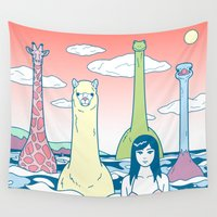 lama Wall Tapestries featuring Animals & Sea by Kimiaki Yaegashi