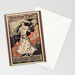 Sarah Bernhardt as Joan of Arc vintage theatre ad Stationery Cards