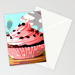 Chocolate Cupcakes with Pink Buttercream Stationery Cards