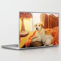 jack russell Laptop & iPad Skins featuring Jack Russell by Good Artitude