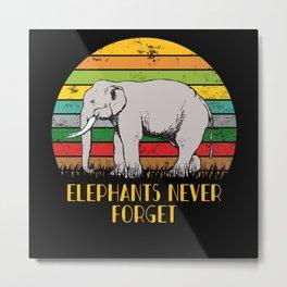 Elephants Never Forget Metal Print