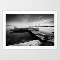 Balaton - Pier Art Print