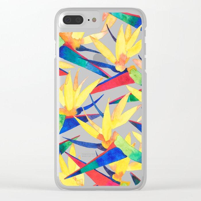 Summer Tropics Clear iPhone Case