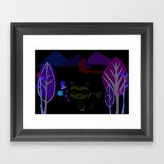Curious raccoon Framed Art Print