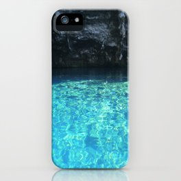 Turquoise blue water Melissani cave Kefalonia, Greece iPhone Case