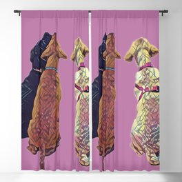 Three Amigos I in pink Blackout Curtain