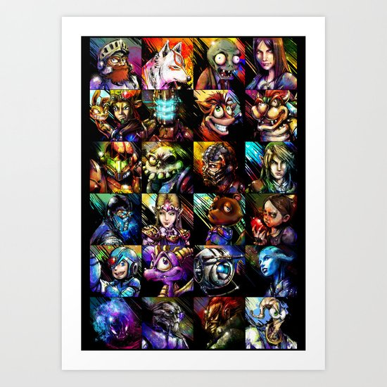 Videogame MashUP Art Print