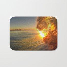 Chris Harsh Photos * Golden Wave At Dawn Bath Mat