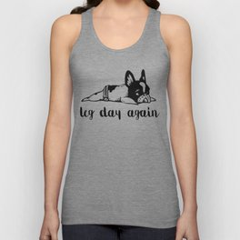 Legday Again Frenchie Unisex Tank Top