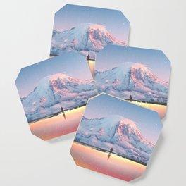 Mount Rainier Washington State Coaster