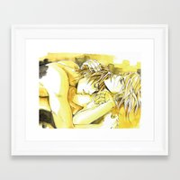 yaoi Framed Art Prints featuring Close to you by Fireangels