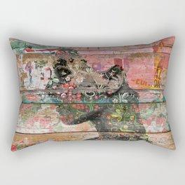 Inner Nature (Profile of Woman) Rectangular Pillow