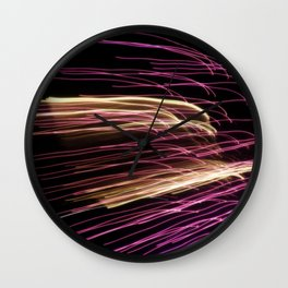 Night Stripes Wall Clock