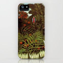 """Henri Rousseau """"Exotic landscape"""", 1908 iPhone Case"""