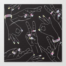 Emoji Hands - Eighties  Canvas Print