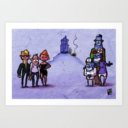 Use Verb on Noun #13: Maniac Mansion Art Print