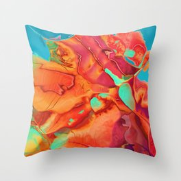 Blossoming into something new Throw Pillow