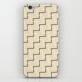 Geometrical black white ivory modern chevron iPhone Skin