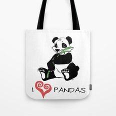 I Love Pandas Design Tote Bag
