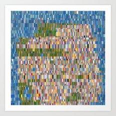 San Francisco Map Collagescape Art Print