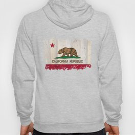 California Republic state Bear flag on wood Hoody