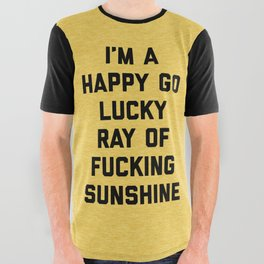 Ray Of Fucking Sunshine Funny Quote All Over Graphic Tee