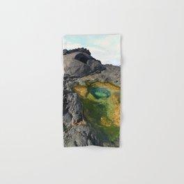 Eroded lava tunnel Hand & Bath Towel