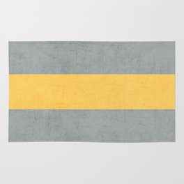 gray and yellow classic Rug