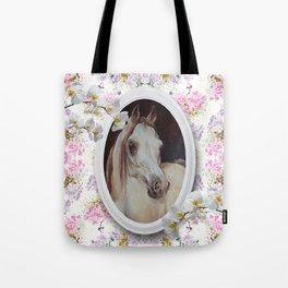 White orchids & Arabian mare Tote Bag